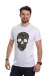 Camiseta Caveira Branca