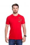 Camiseta Flor Bordada Vermelha
