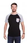 Camiseta Raglan Preta