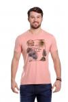 Camiseta Palm Salmão