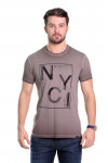 Camiseta NYC Marrom