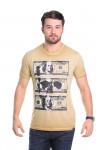 Camiseta Dollar Bege