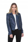 Jaqueta de Couro Perfecto Blue