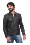 Jaqueta de Couro Slim Ranger Envelhecido